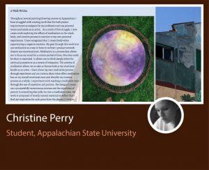 Christine Perry ePortfolio screenshot