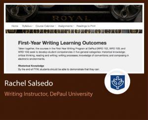 Rachel Salsedo ePortfolio screenshot