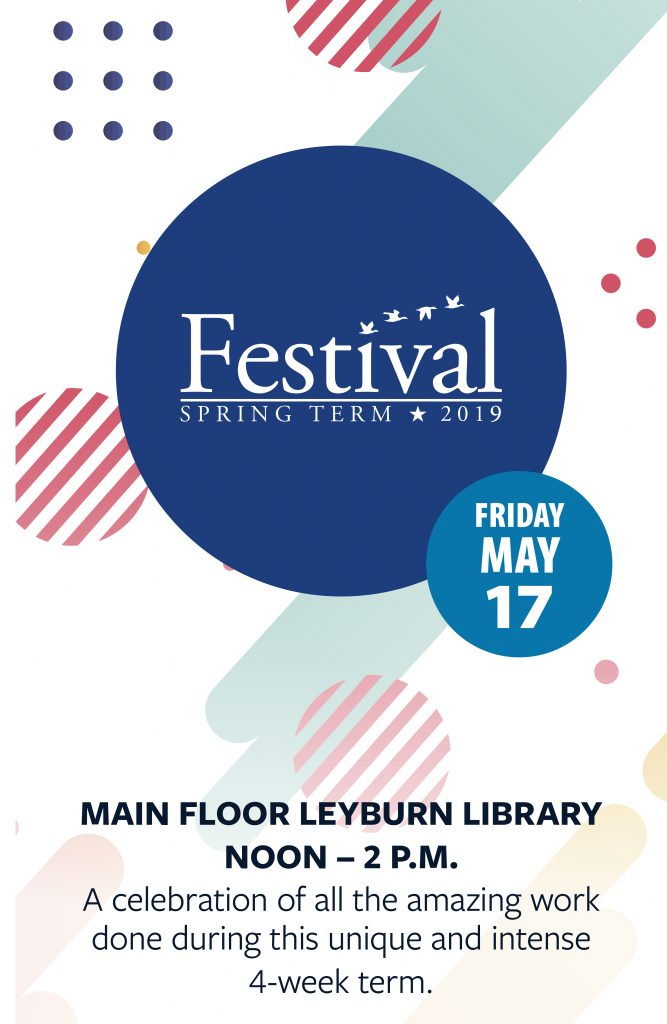 Sign up for the Spring Term Festival!