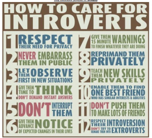 How to Care for Introverts, from The Introvert's Dilemma blog
