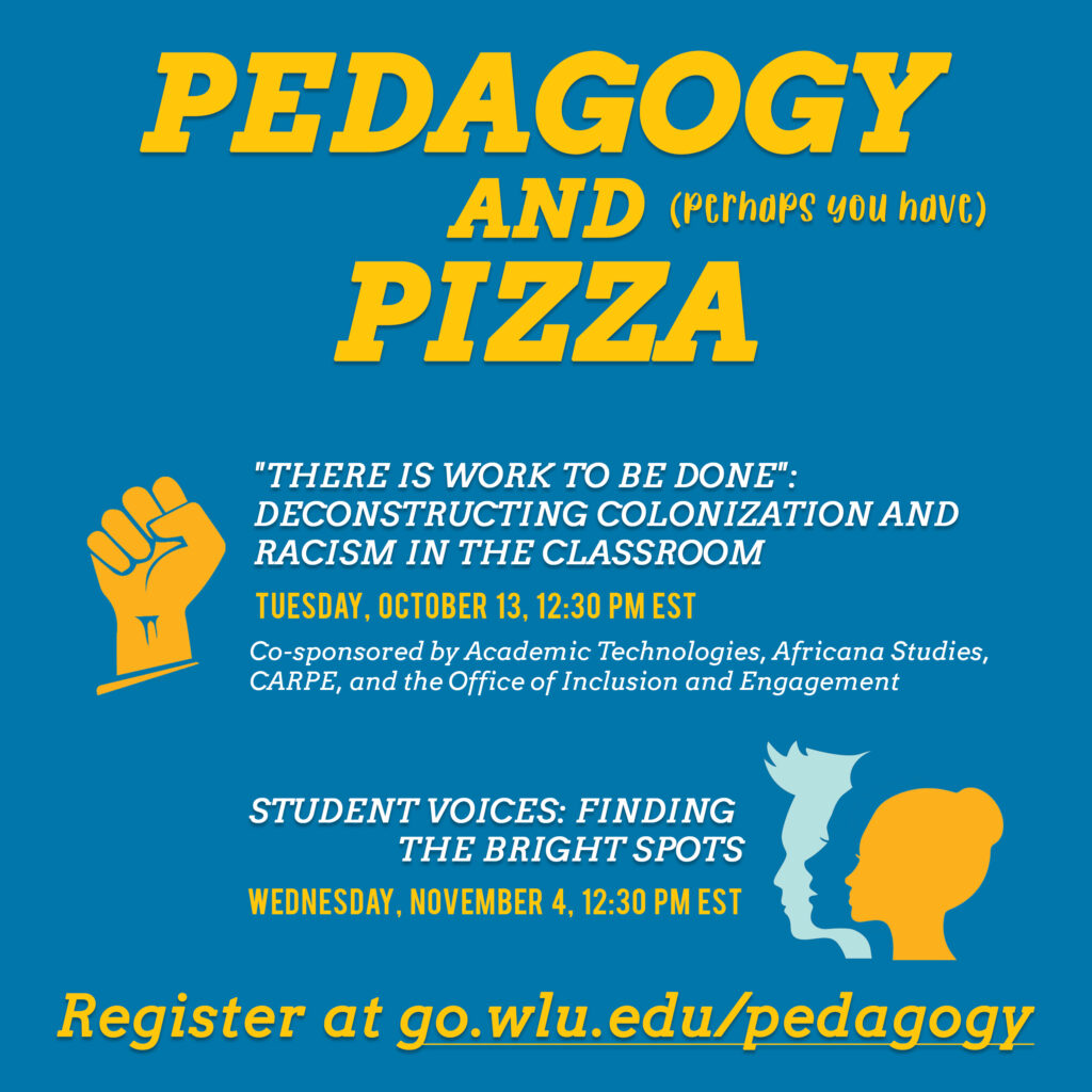 Pedagogy and perhaps you have) Pizza